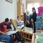 زيارة وحدة الجودة والتطوير المستمر بالجامعة لكلية التجارة
