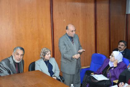 خبراء مركز القياس والتقويم بوزارة التعليم العالى فى زيارة إلى جامعة مدينه السادات.