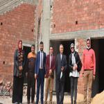 عميد الكلية يتابع أعمال الإنشاءات داخل المبنى الجديد