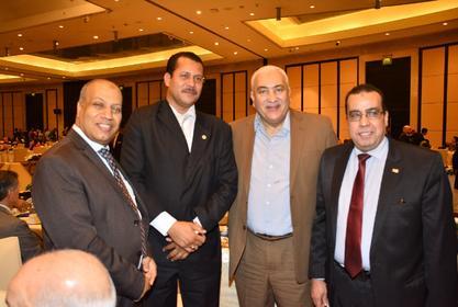رئيس الجامعة يلبي دعوة أمين عام المجلس العربي لحماية الحياة البرية في الإفطار الرمضاني بحضور قيادات الدولة