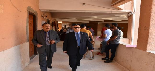 زيارة السيد الأستاذ الدكتور / نائب رئيس الجامعة لشئون التعليم والطلاب  لكلية التربية