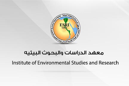 أ.د/ عمر تمام - عميد المعهد- في إستقبال أ.د/ مجدي علام - أمين عام إتحاد خبراء البيئة العرب -