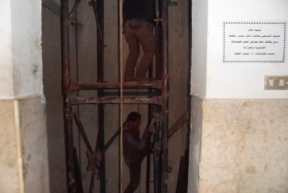 البدء في إجراءات وتنفيذ المصعد الجديد على أحدث التكنولوجيا بالمعهد