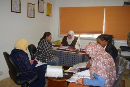 بالصور:- جلسة المراجعة الداخلية للملفات النمطية للأقسام الإدارية بالمعهد