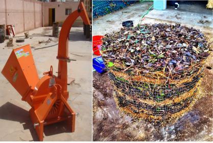 ماكينة فرم المخلفات الزراعية لتصنيع الكومبوست