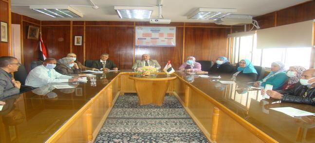 إجتماع مناقشة التقرير المقدم من هيئة ضمان الجودة على زيارة الهيئة للمعهد خلال الفترة من 3 - 10 يناير 2021