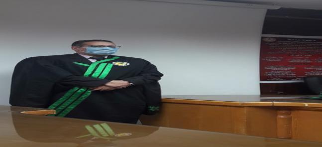 مناقشة رسالة الماجستير في العلوم البيئية للباحث/ أحمد محمد أحمد ضاحي