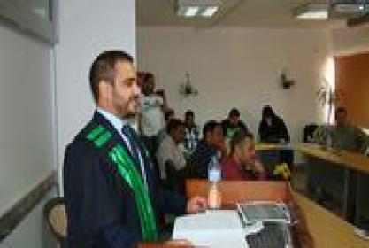 مناقشة رسالة الماجستير للباحث/ عبدالله عيسى عبدالله الفليكاوي
