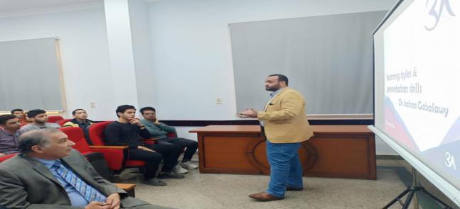 د. بهاء الجبلاوى من كلية الصيدلة جامعة طنطا فى ضيافة كلية الصيدلة جامعة مدينة السادات