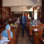 عميد كلية الصيدلة يتابع أعمال امتحانات الفصل الدراسي الثاني