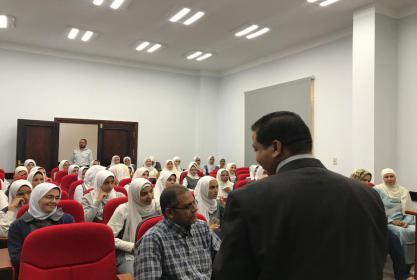 مدرسة السادات الثانوية بنات في رحاب كلية الصيدلة