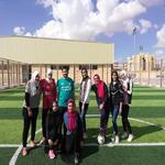 فريق كرة القدم بنات يحقق المركز الثالث علي مستوي الجامعة