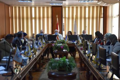 إنعقاد إجتماع مجلس الجودة بجامعة مدينة السادات