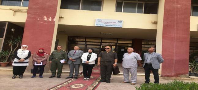 زيارة وفد الشركة الوطنية للزراعات المحمية  لمعهد الهندسة الوراثية بجامعة مدينة السادات