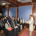 خبراء وحدة إدارة مشروعات التطوير بوزارة التعليم العالي في زيارة لمركز القياس والتقويم لجامعة مدينة السادات