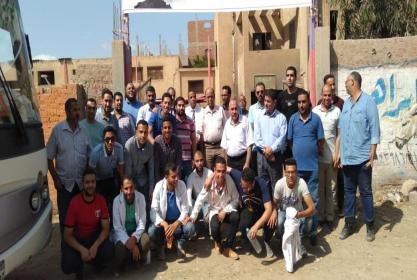 جامعة مدينة السادات تنظم قافلة بيطرية لمركز