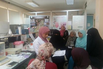 بالصور : دورة تدريبية لطالبات كلية العلوم جامعة الازهر