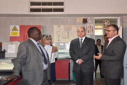 زيارة رئيس جامعة غرب كردفان بالسودان للمعهد