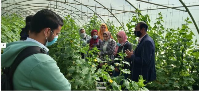بالصور : زيارة طلاب كلية الزراعة جامعة دمنهور للمعهد