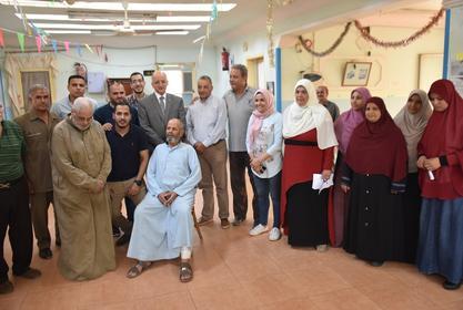 نظم قطاع خدمة المجتمع وتنمية البيئة قافلة طبية مجانية لدار المسنين بالسادات