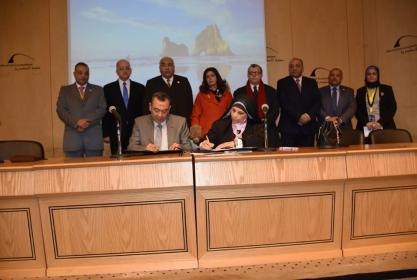 بروتوكول تعاون بين جامعه مدينه السادات والشركة الوطنية للزراعات المحمية.