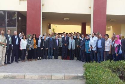 زيارة فريق من المراجعين بالهيئة القومية لضمان جودة التعليم والاعتماد لمعهد بحوث الهندسة الوراثية والتكنولوجيا الحيوية