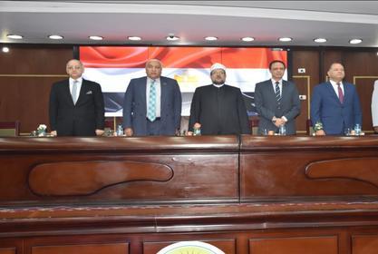 وزير الأوقاف يتحدث عن مكافحة الفساد وارساء مفاهيم النزاهة في ندوة بجامعة مدينة السادات
