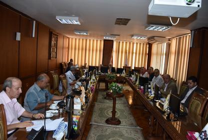 اجتماع مجلس شئون خدمة المجتمع وتنمية البيئة لبحث جدول اعماله