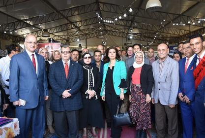 إفتتاح المعرض السنوى الثانى للكتاب بكلية الحقوق جامعة مدينة السادات