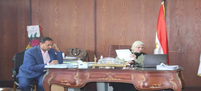 أ.د/ سحر عبدالستار إمام - عميد الكلية تترأس إجتماع مجلس كلية الحقوق- جامعة مدينة السادات
