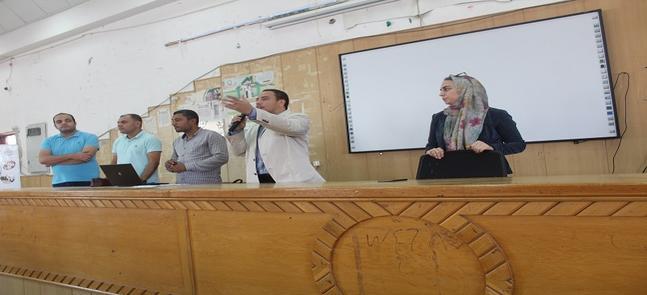 زيارة فريق  المركز الجامعي للتطوير المهني - جامعة مدينة السادات للكلية