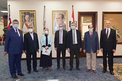 زيارة  الاستاذ الدكتور / سحر عبد الستار امام- عميد الكلية الي كلية القانون بالجامعة البريطانية