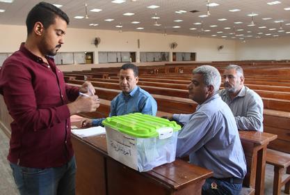 إعادة انتخابات اتحاد الطلاب لجميع الفرق الدراسية لعدم اكتمال النصاب القانونى لعدد الناخبين