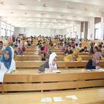 طلاب الفرقة الأولى يؤدون أول امتحانات الفصل الدراسى الثانى مايو 2019م