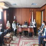 اجتماع عميد الكلية مع أعضاء هيئة التدريس والهيئة المعاونة