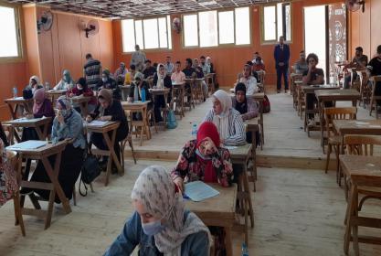 متابعة سير العملية الامتحانية برنامج شعبة اللغة الانجليزية