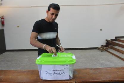 كلية الحقوق -جامعة مدينة السادات تشهد إقبال كبير من الطلاب للتصويت بانتخابات اتحاد الطلاب المرحلة الأولى
