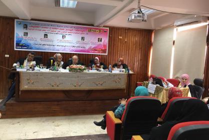 مناقشة رسالة الماجستير فى التربية الرياضية للباحثة تيسير عبد الفتاح الخفيف