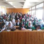 تطبيق استبيان استطلاع راى الطلاب عن تقويم الامتحانات لطلاب الفرقة الثانية بنات