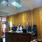 اجتماع العميد مع السادة أعضاء هيئة التدريس والهيئة المعاونة