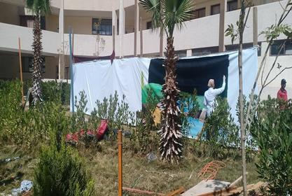 معسكر اعداد لعشيرة الجوالة بكلية التربية الرياضية جامعة مدينة السادات