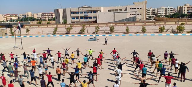 استمرار فاعليات المعسكر التربوى لطلاب الفرقة الأولى بنين وبنات والفرقة الثالثة بنين وبنات للعام الجامعى 2021/2020م