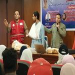 دورة الإسعافات الأولية التابعة لجمعية الهلال الأحمرالمصرى فرع المنوفية