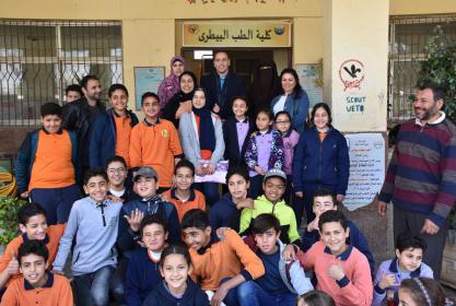 كلية الطب البيطرى تستضيف مدرسة فاطمة الزهراء للغات