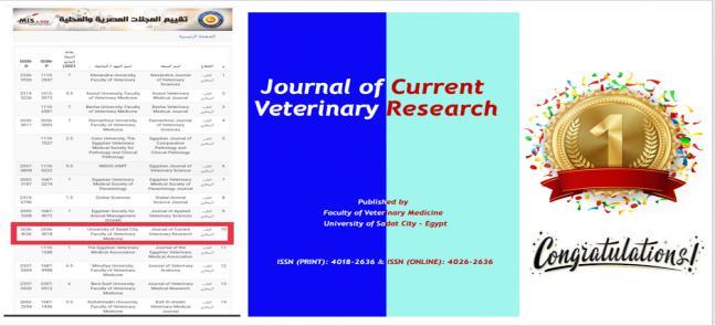حصول المجلة العلمية للكلية على أعلى تقييم من قبل المجلس الاعلى للجامعات لعام 2021
