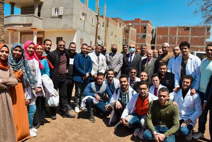 قافلة طبية لقرية ليبشة بمحافظة المنوفية