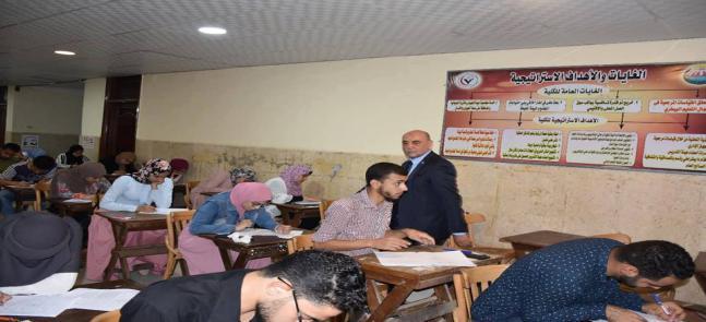 نائب رئيس جامعة مدينة السادات يتابع سير الامتحانات بكلية الطب البيطري