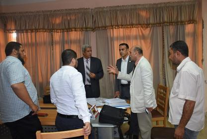 ختام زيارة خبراء وحدة إدارة مشروعات التطوير بوزارة التعليم العالي لمركز القياس والتقويم بجامعة مدينة السادات