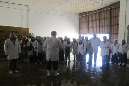 زيارة ميدانية لطلاب الفرقة الخامسة لمجزر شركة اجيبتانا