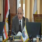 الاجتماع الشهري لمجلس شئون خدمة المجتمع وتنمية البيئة بالجامعه